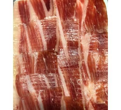 100 g. packaging of hand-cut Iberian Cebo Ham 50% Iberian Race